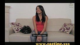 Casting - Latina hottie sucks...