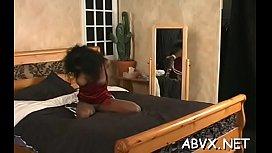 Amateur hottie pussy shagged in amateur bondage scenes