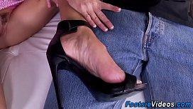 Kinky milfs feet cumshot...