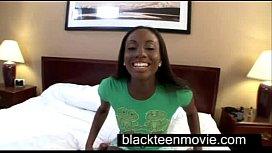 Cute ebony teen with...