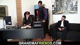Old granny in stockings...