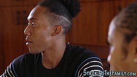 Ebony stepmom facialized...