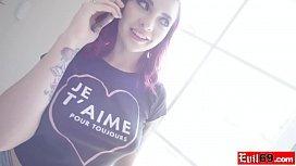 Redhead Amber Ivy interracial...