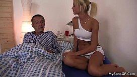 His blonde gf cheating...