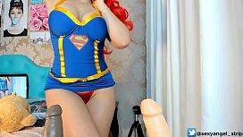 Cosplay SuperGirl Punheta Guiada...