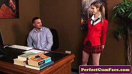 Teen blows teacher...