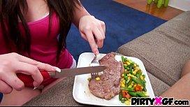 Steak and blowjob GF...