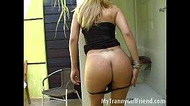 Hot blond tranny dances...
