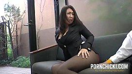 JAV Secretary Fucked By Her Older Boss - More At PornChickicom