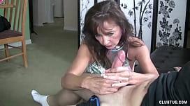 This Naughty Granny Enjoys Stroking