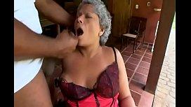 Brazilian granny gets fucked...