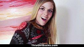 Thisgirlsucks - Hot Teen Slurps on Big Sized Cock havoc hailey fuck