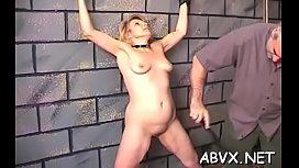 Big tits chick extreme slavery in slutty home scenes