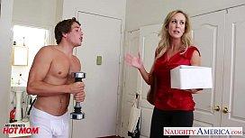 Busty blonde mom Brandi Love fucking pentasex