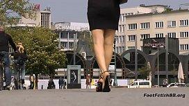 Black stiletto sandals...