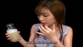 Asian drink a bottle...