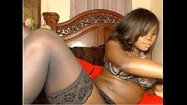 Ebony dildo play...