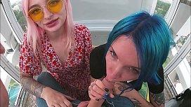 risky ferris wheel blowjob slutty teens