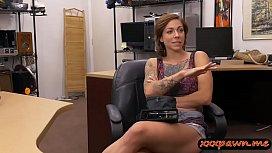 Busty tattooed woman railed...