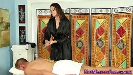 Sexy masseuse juggs jizz...