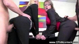 CFNM office sluts fucked...