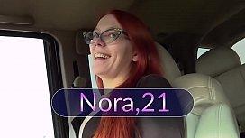 Skinny Redhead Nora Likes To Cum