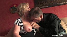 Mature German lady takes...