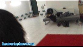 Nasty brunette does lapdance...
