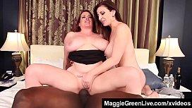 Curvy Blonde Maggie Green...