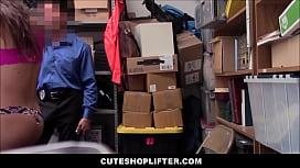 Cute Teen Shoplifter With...