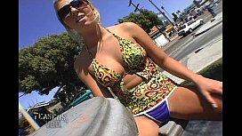Jaelyn Fox - Public Upskirt Cafe Int ...