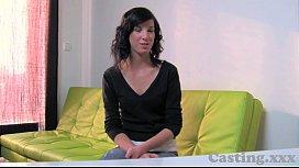 Casting HD Innocent brunette...