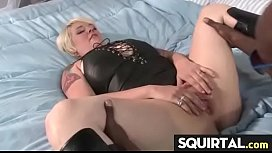 Massive squirting and creampie...