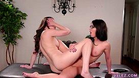 Lesbian pornstars making out...