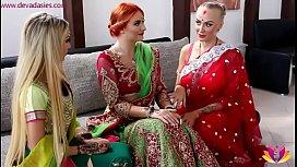 Pre-wedding Indian bride ceremony