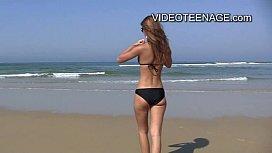 Sexy teens at beach...