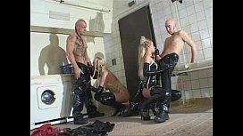German Blondes FFMM 4some...