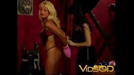 Hot blonde slut gets dominated