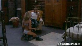 Two Lesbian Slaves Seducing...