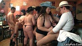 Bar orgy with fat whores nxxxn
