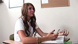 Brunette teen Cassandra Nix...