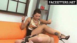 BrutalFacesitting - crazy Russian mistress...