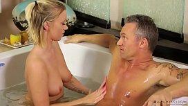 Bailey Brooke massaging her...