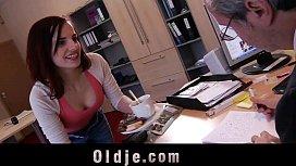 Cutie young secretary horny...