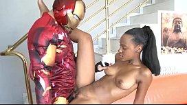 Fake Iron Man Fucks Ebony