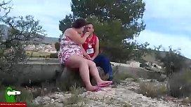 She sucks his cock...