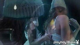 Lesbian ebony teen massaged...