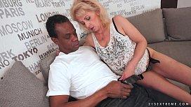 Lusty Grandma loves black...