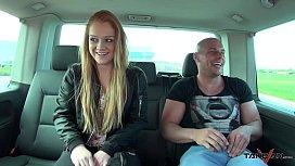 Redhead banged in van...