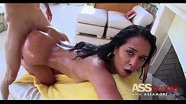 Oiled Brazilian Booty Abby...